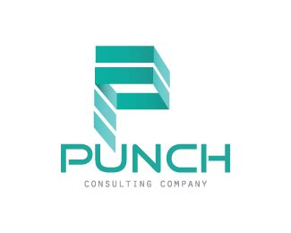 Punch Letter P Consulting Company Designed by dalia