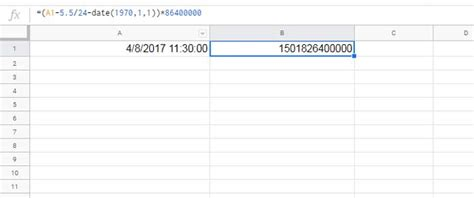 How to Convert Timestamp to Milliseconds in Google Sheets
