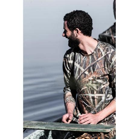 T-SHIRT CHASSE MANCHES LONGUES STEPPE 300 CAMOUFLAGE