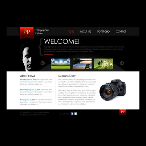simple and clean photographers portfolio website template