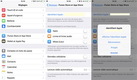 Comment modifier Identifiant Apple sur iPhone ou iPad