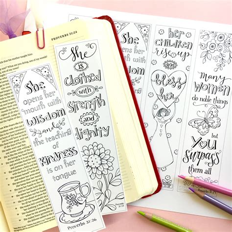 Proverbs 31 Godly Woman Mothers Day Color Your Own Bible