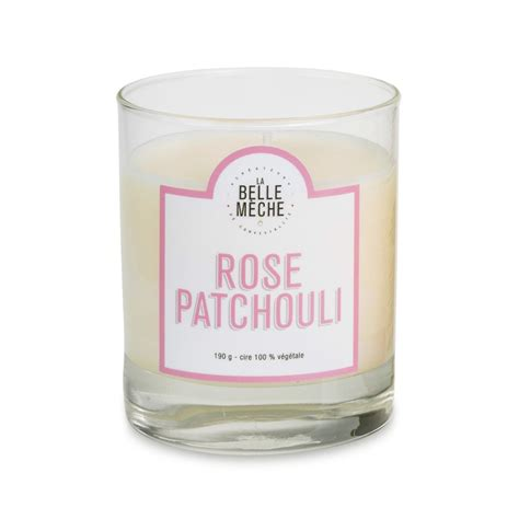 Rose patchouli scented candle : Perfect gift for a woman