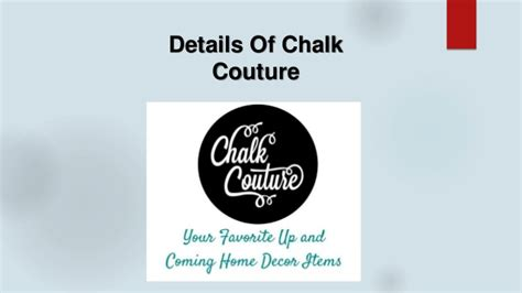 Details of Chalk Couture