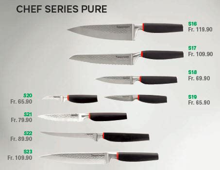 Fiche – Couteaux Chef Series Pure | Tupperware by MyHobbies