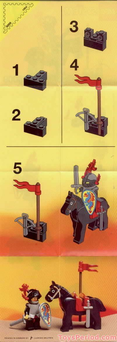 LEGO 6009 Black Knight Set Parts Inventory and