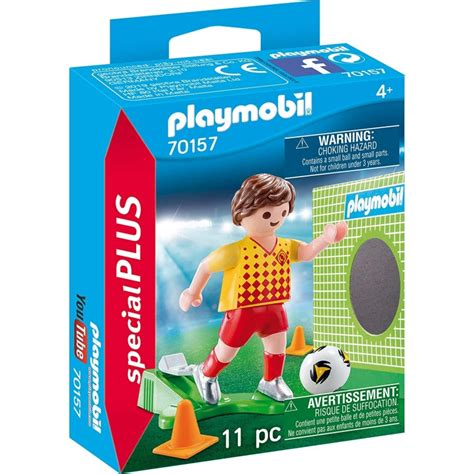 Playmobil Special Plus Soccer Player with Goal 70157 • Crayons