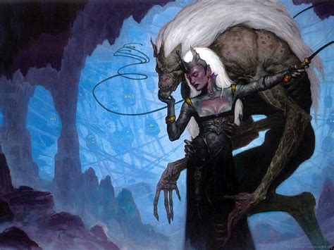 Draegloth_and_Drow_by_Brom-(2002-12)_WOTC_Forgotten_Realms