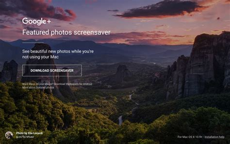 Google Releases Featured Photos Screensaver for Mac