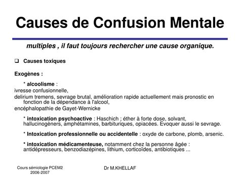 PPT - Syndrome Confusionnel PowerPoint Presentation, free