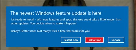 The newest Windows features update is here popup - How to