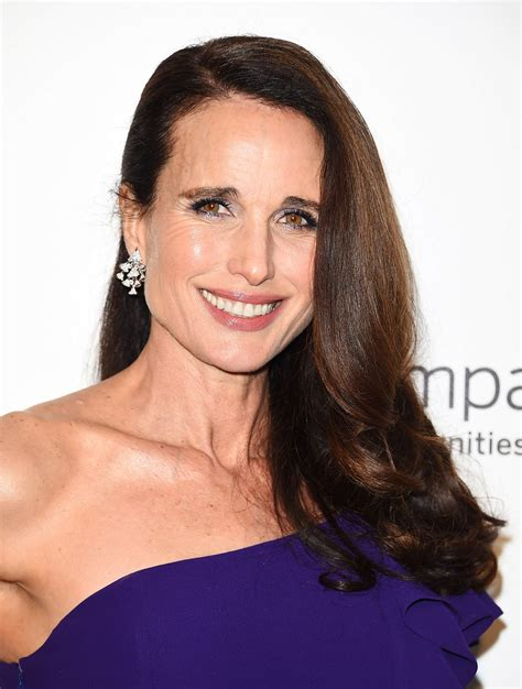 Andie MacDowell At Elton John AIDS Foundation Academy