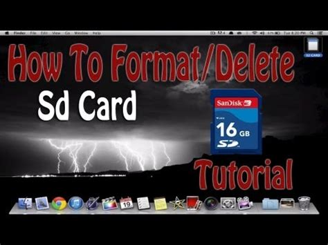 How To Erase SD Card On Mac Computer | Tutorial Format