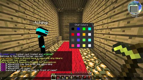 Color Chat Mod! Chat in a RAINBOW! Minecraft 1