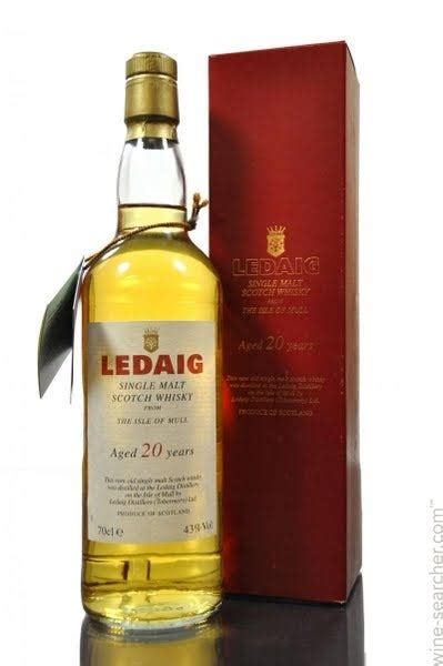 Ledaig 20 Year Old Single Malt Scotch Whisky, Isle of Mull