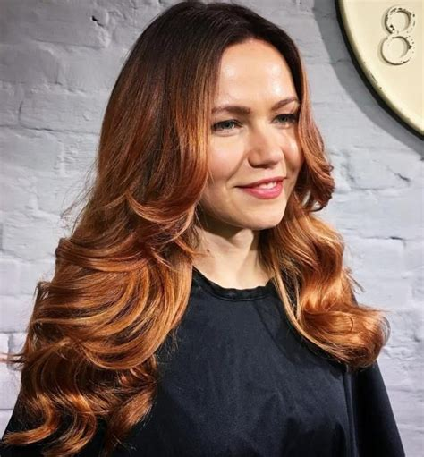 Long Caramel Hair With Root Fade | Cheveux, Couleur