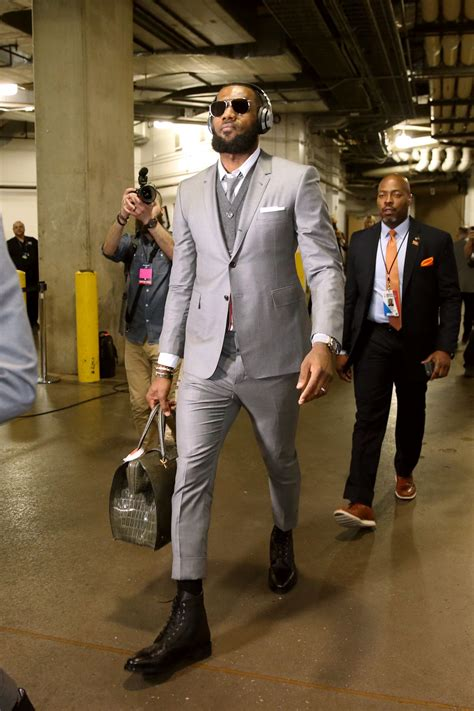 LeBron James And The Cavaliers Wore Matching Suits With