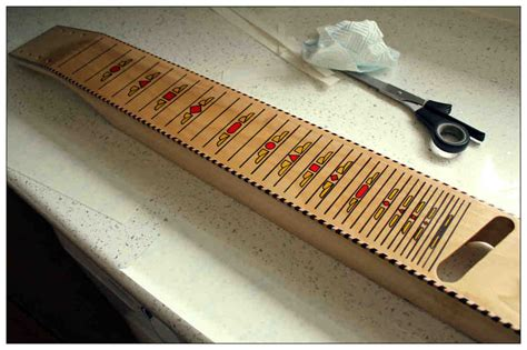 JAG fretboard decals for lapsteel, application