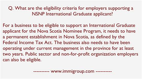 What are the eligibility criteria for employers supporting