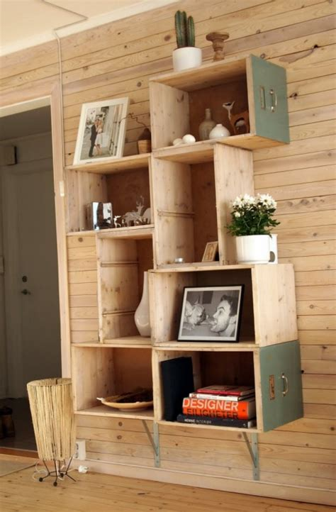 DIY Bookcase Made Of Old Drawers - Shelterness