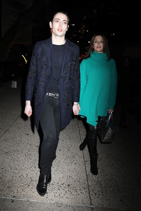 STEPHANIE SEYMOUR Leaves Marc Jacobs Fashion Show in New