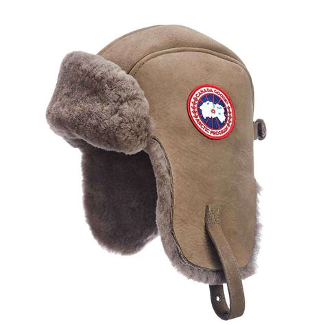 Canada Goose Suede Shearling Pilot Hat - at Moosejaw