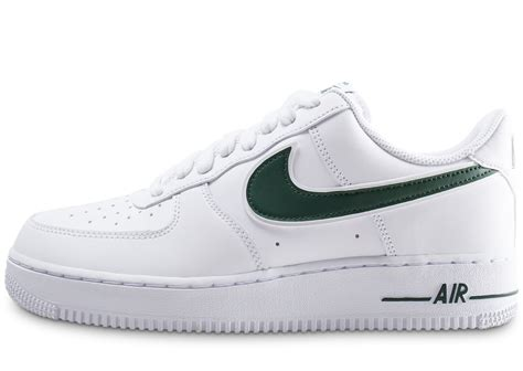 Nike Air Force 1 '07 blanche et verte - Chaussures Baskets