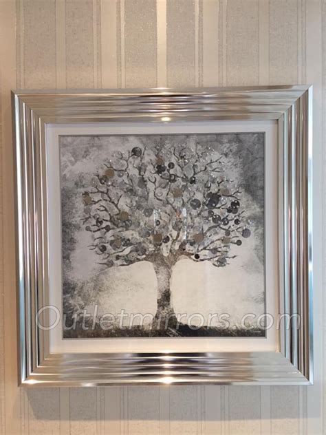 "Mirror framed art print ""Glitter Sparkle Money Tree"" with"