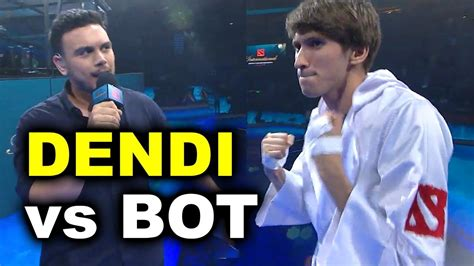 DENDI 1v1 vs BOT AI - TI7 DOTA 2 - YouTube