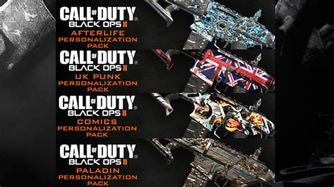4 new Personalization Packs for Black Ops 2 available now