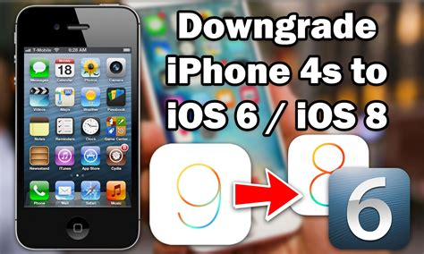 Downgrade iPhone 4s / iPad 2 to iOS 6