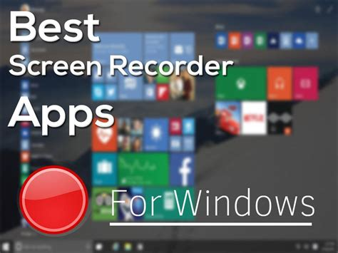 Hot Free Screen Recorder Softwares For Windows 10 Online