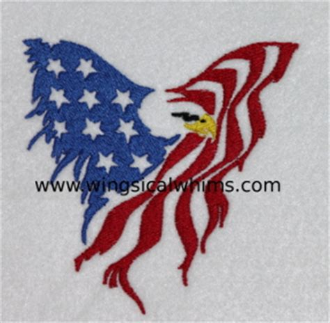 Red White and Blue Eagle