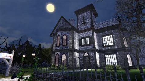 The Sims 4: Speed Build / HAUNTED HOUSE - YouTube
