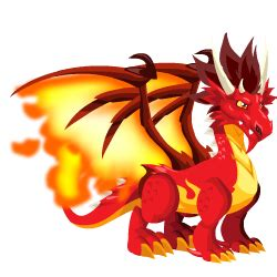 Flame Dragon Information in Dragon City