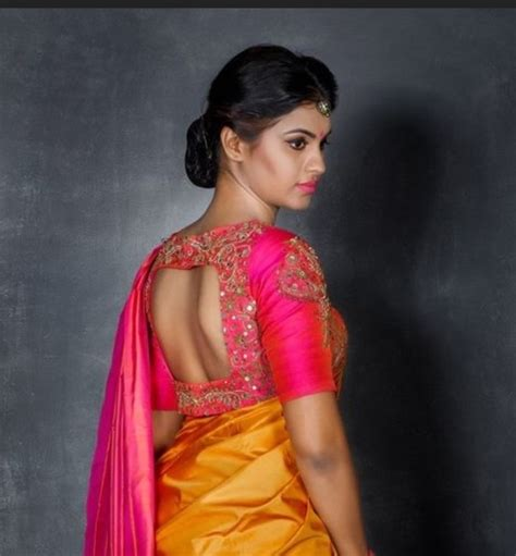 What are the blouse designs for a silk saree? - Quora