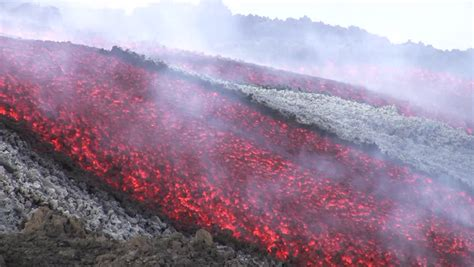 Close View To An Eruption In The Erta Ale Volcano Lava