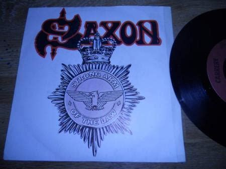 """SAXON """"STRONG ARM OF THE LAW/TAKING YOUR CHANCES"""" SACEM"""