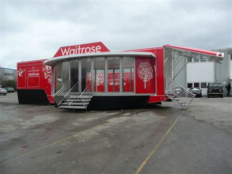 Waitrose Supermarkets Articulated Exhibition Trailers for