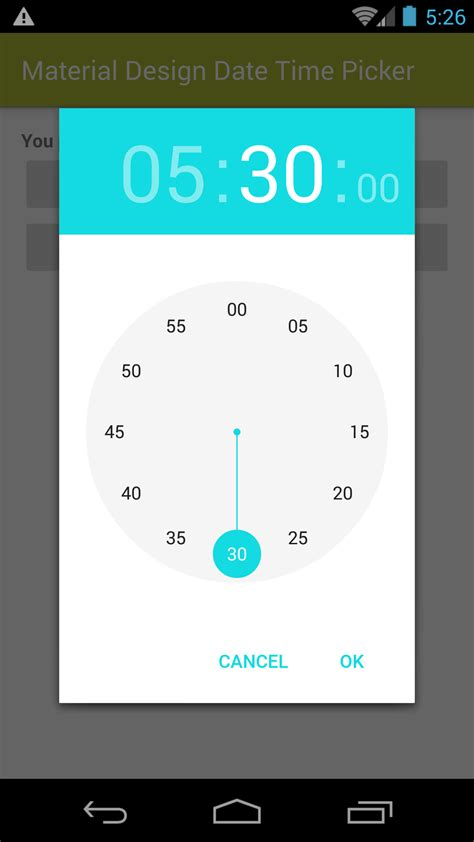 Material Design Date/Time Picker for Android 4