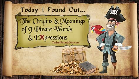 The Origin and Meanings of 9 Pirate Words and Expressions