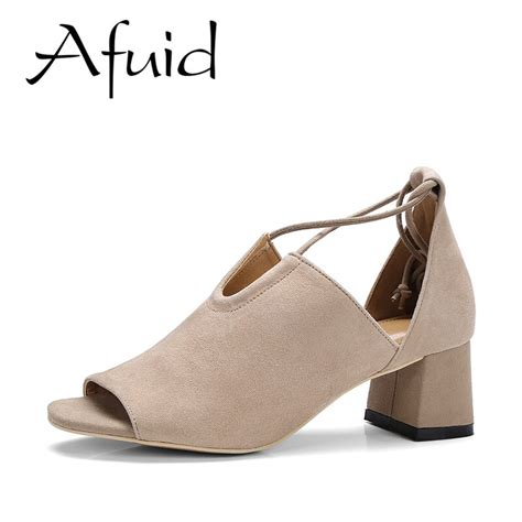Afuid Classic Gladiator Sandals Women Ankle Cross Tied