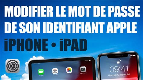 Modifier le mot de passe de son identifiant Apple • iPhone