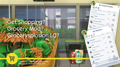 My Sims 4 Blog: The Sims 4 Grocery Store Mod 1