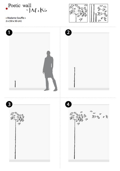 Poetic wall® – Sticker dessin – Madame souffle « Poetic wall