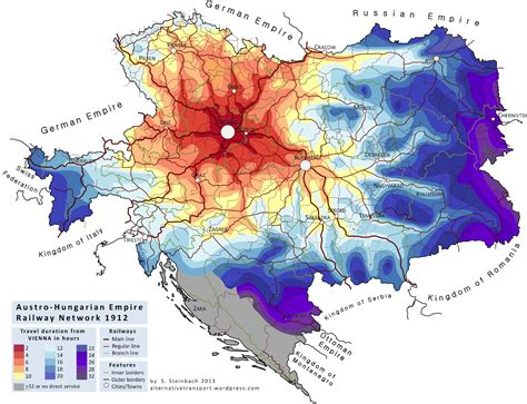 carte-isochrone-autriche-empire-train - La boite verte