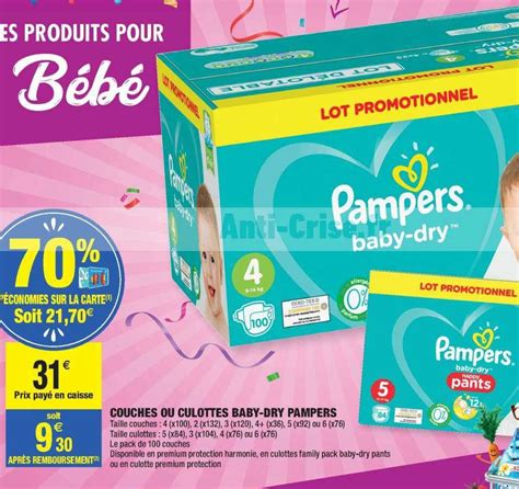 Couches Baby-Dry Pampers chez Carrefour Market (29/10 - 10