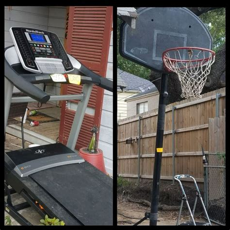 Nordic Track C910i treadmill and basketball goal for Sale
