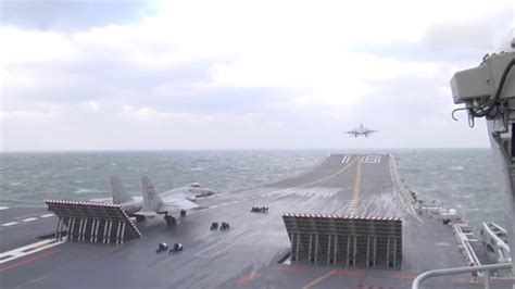 Chinese aircraft carrier Liaoning carries out drill with J
