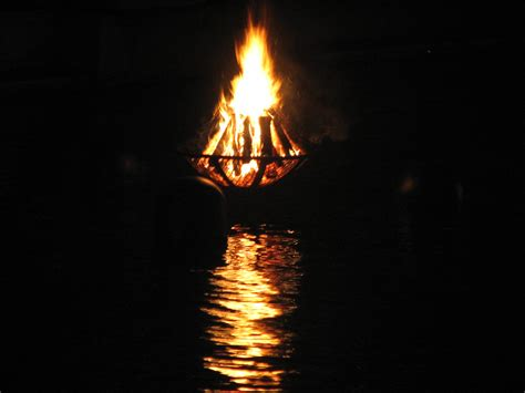 Water Fire Brazier 2 | Close up of one of the WaterFire